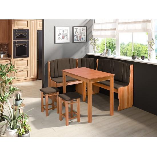Eckbank + Tisch und zwei Hocker Soter II