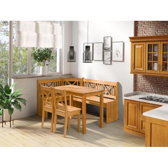 Eckbank + Tisch und zwei Stühle Santiago