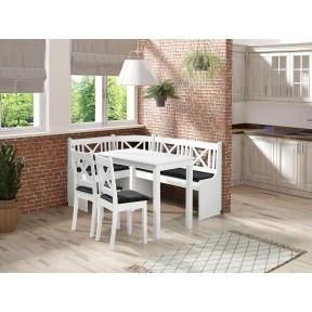 Eckbank + Tisch und zwei Stühle Santiago 1