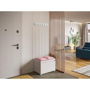 Garderoben-Set Konkor 60 (Schuhschrank und Kleiderhakenbrett) + 2 Stück gepolsterte Sitzpaneele Pag 30x30