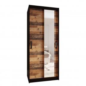 Kleiderschrank mit Spiegel Tihunu 90 cm