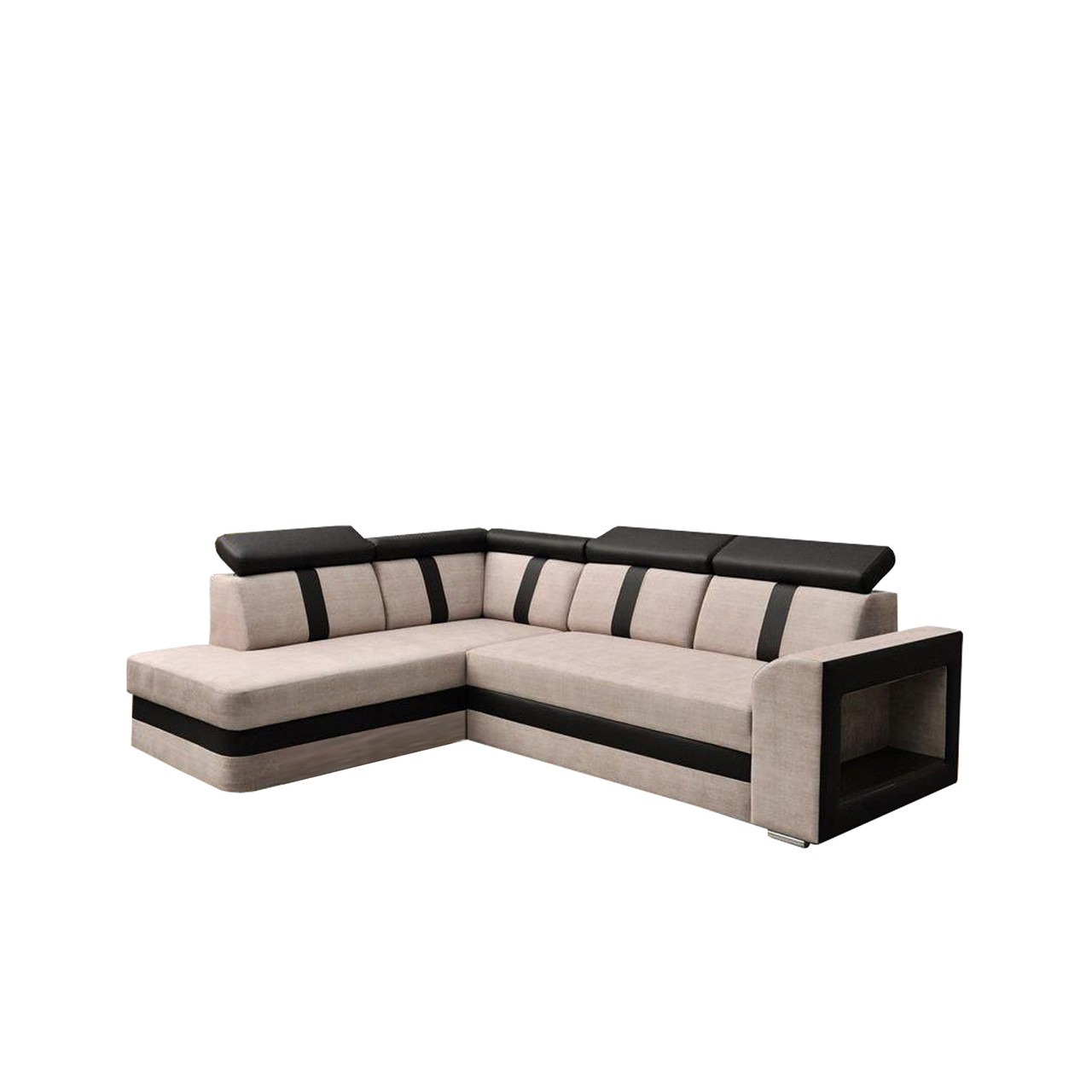 ecksofa maverick mit schlaffunktion und bettkasten mirjan24. Black Bedroom Furniture Sets. Home Design Ideas