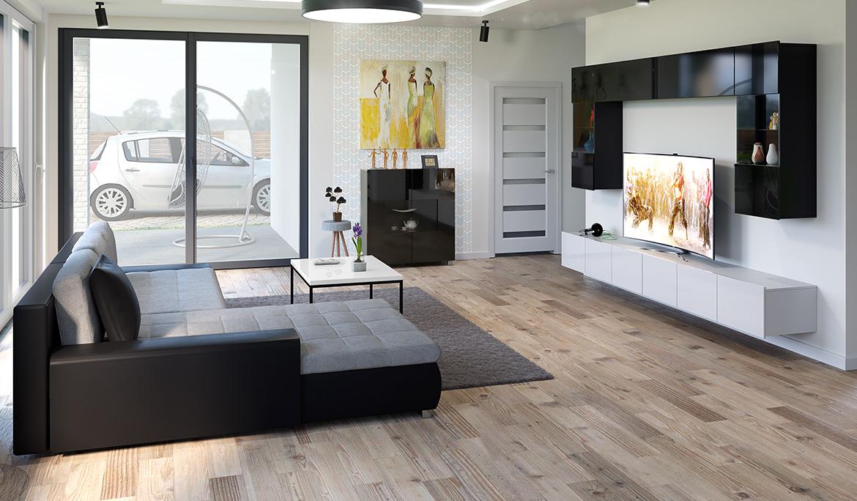 stil wohnzimmer interieur gegensatze, weiß und schwarz im wohnzimmer - mirjan24, Ideen entwickeln