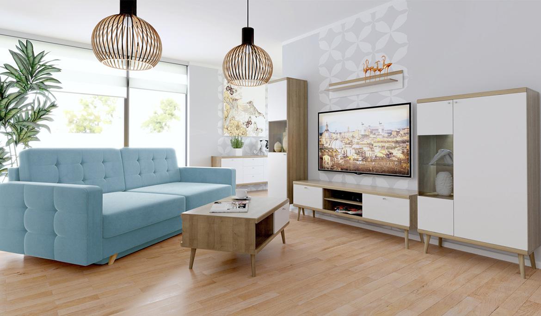 Wohnzimmer im skandinavischen Stil - Mirjan24