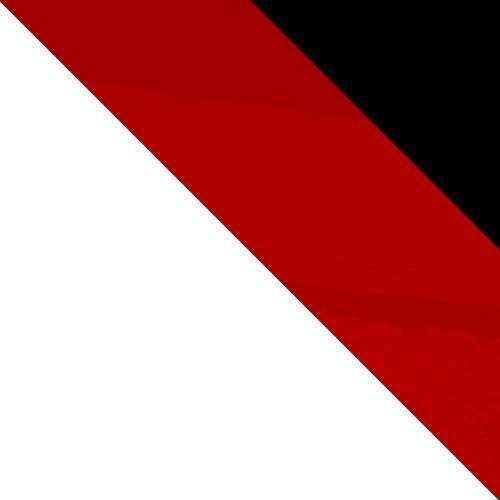 weiß / rot Hochglanz + schwarz Hochglanz