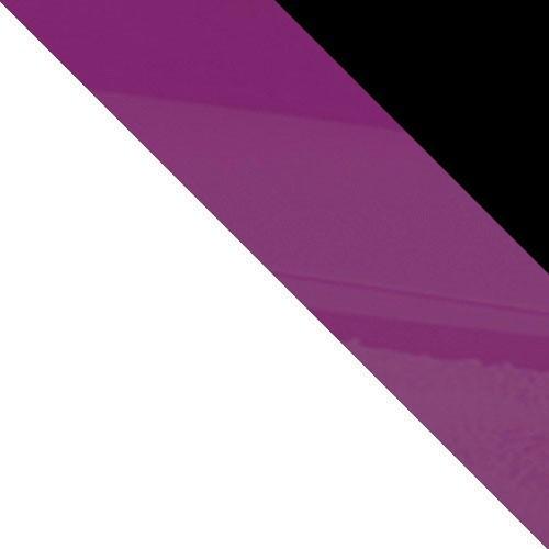 weiß / schwarz Hochglanz + violett Hochglanz