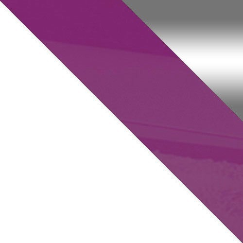 weiß / weiß + violett Hochglanz + spiegel
