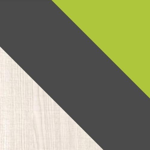 ash / graphite / green