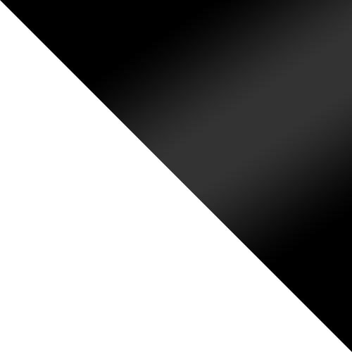 weiß / schwarz Hochglanz