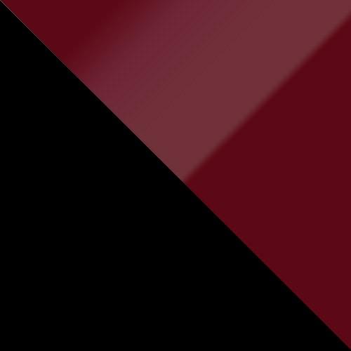 schwarz / burgund Hochglanz