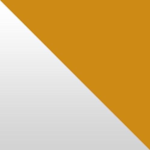 weiß Hochglanz / orange