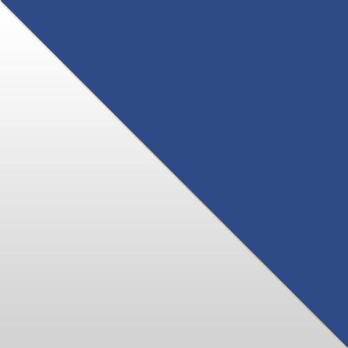 weiß Hochglanz / blau