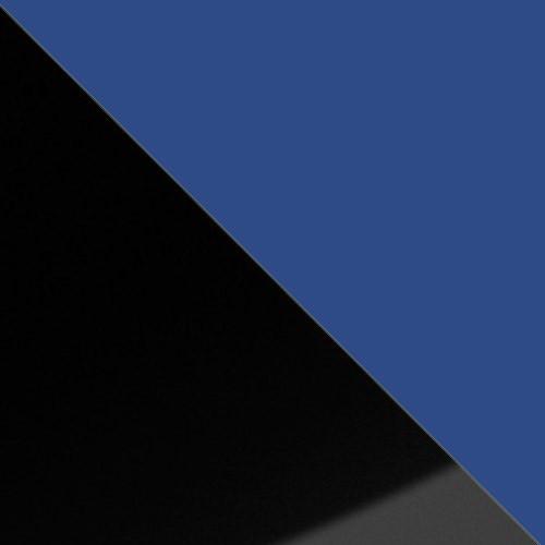 schwarz Hochglanz / blau
