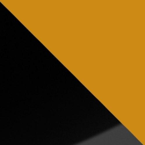 schwarz Hochglanz / orange