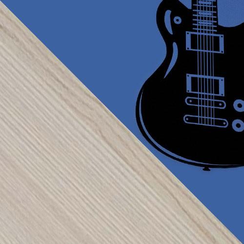 esche / blau + Musik
