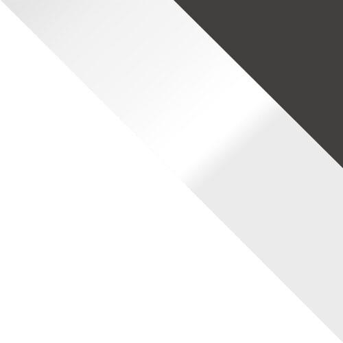 weiß / weiß Hochglanz + graphit