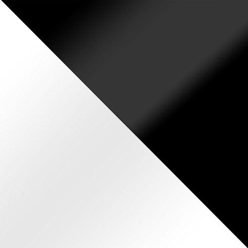 weiß Hochglanz / schwarz Hochglanz