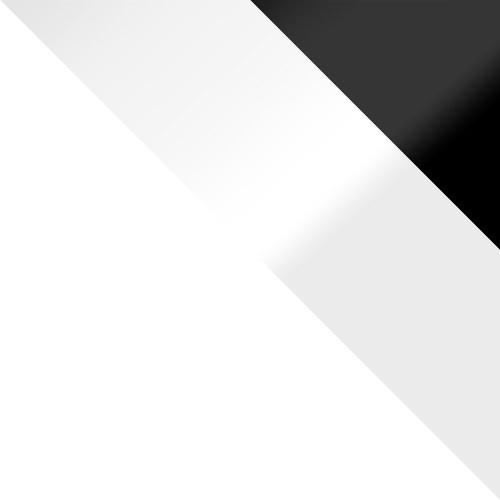 weiß / weiß Hochglanz + schwarz Hochglanz