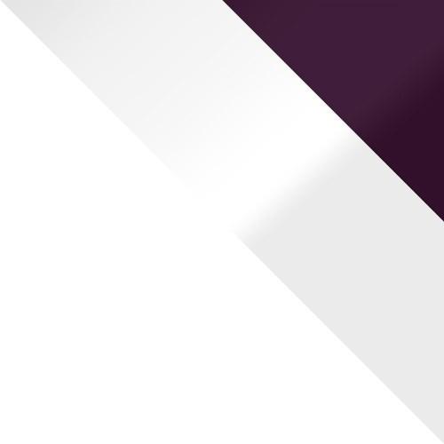 weiß / weiß Hochglanz + violett Hochglanz
